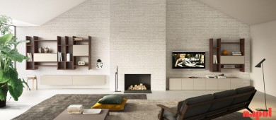 MODERN LIVING ROOM WALL SYSTEM