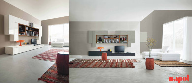 modern living room composition