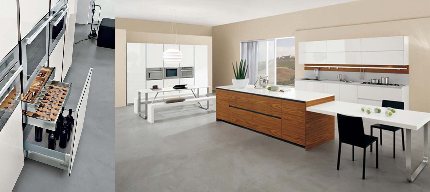 Modus lacquered oak kitchen