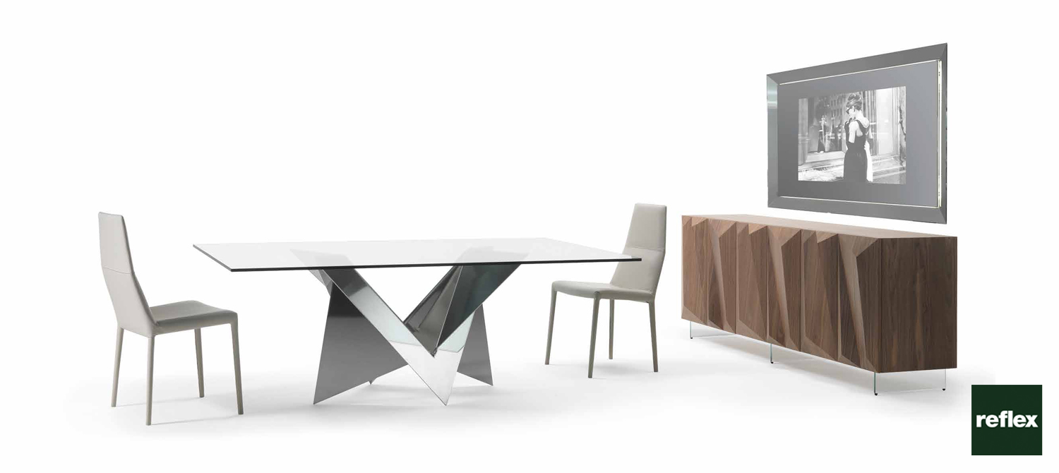 Mathematique 72 reflex dining table for Reflex tavoli