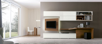 [metaslider id=2378]Living Room Furniture is characterized by a complete modular system for the creation of highly customized Wall Systems and Bookcases. Our modern Wall Systems and modular Bookcases in real wood are ideal for the furniture of a modern living room.