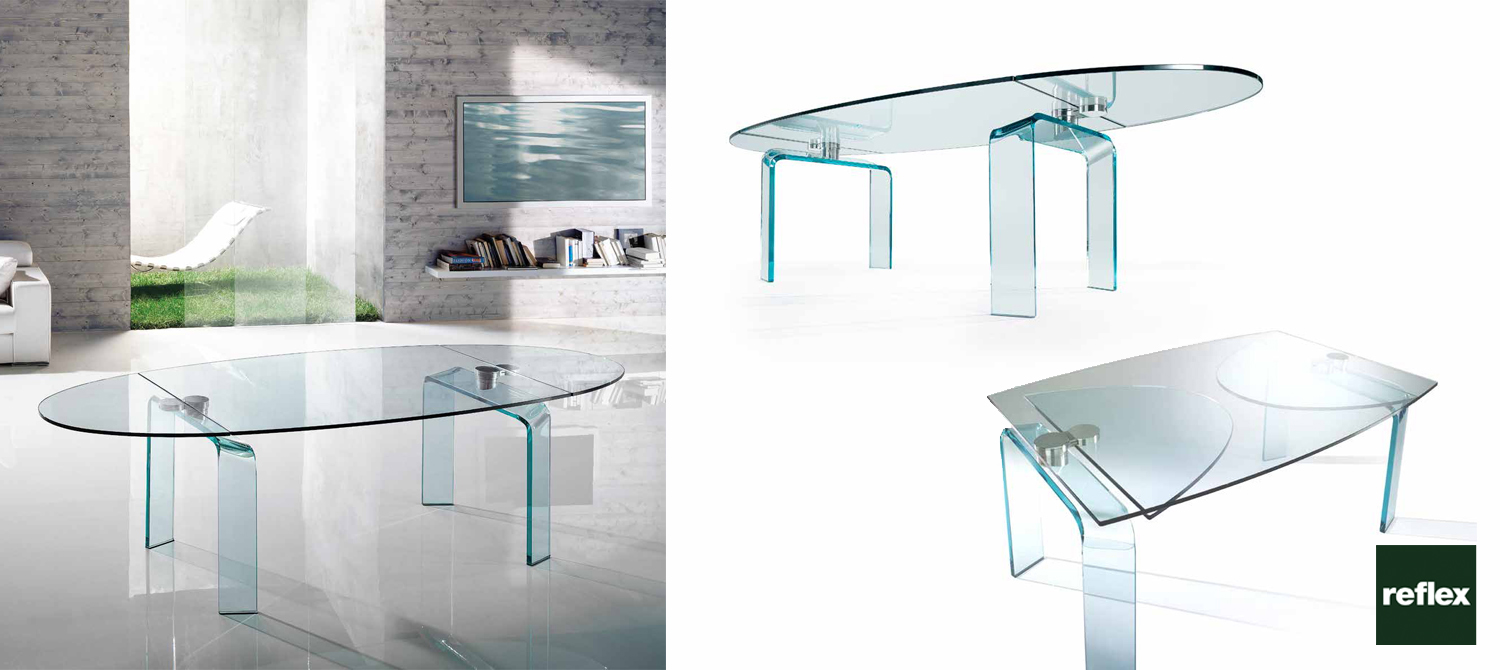 Policleto ellittico reflex dinning table for Reflex tavoli