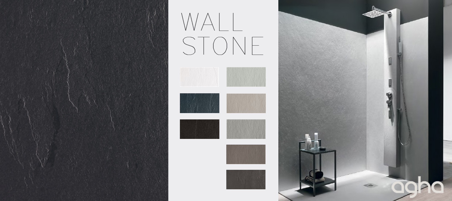 wall stone shower accessories