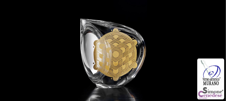 Gold Circle Murano Slider