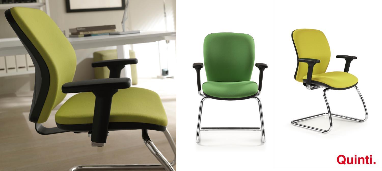 Quinti APPLE Foam set back Visitors chair with Armrests & Cantilever base Slider