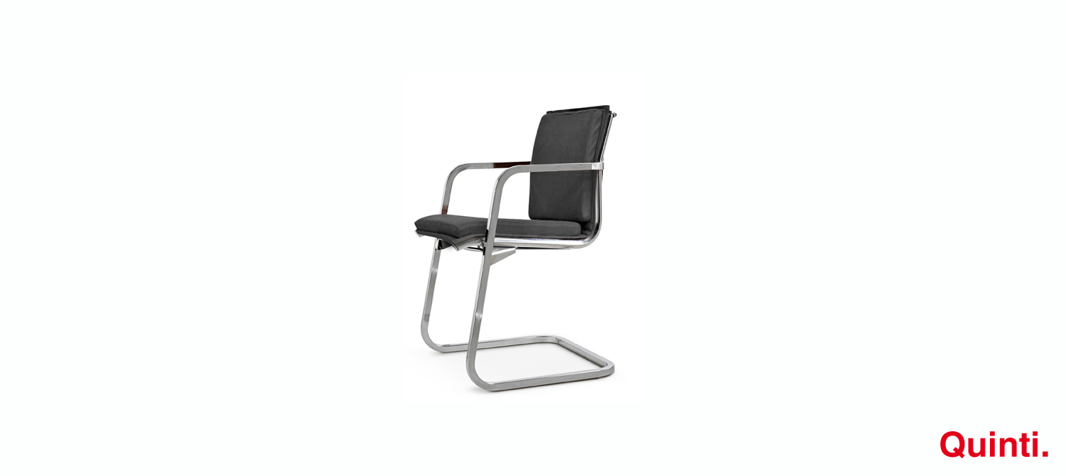Quinti  Aluminia Comfort Visitor chair with Armrests & Cantilever base Slider