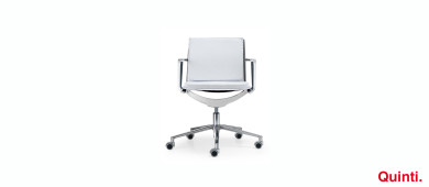 Quinti  Aluminia Comfort Visitor chair with Armrests & Lumia base Slider