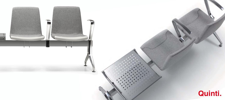 Quinti Petit Amelie 2 Seater with Metal table & Aluminium legs (2)