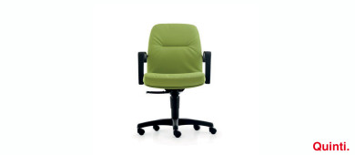 Quinti ROMA Low back with Armrests & Arco base Slider