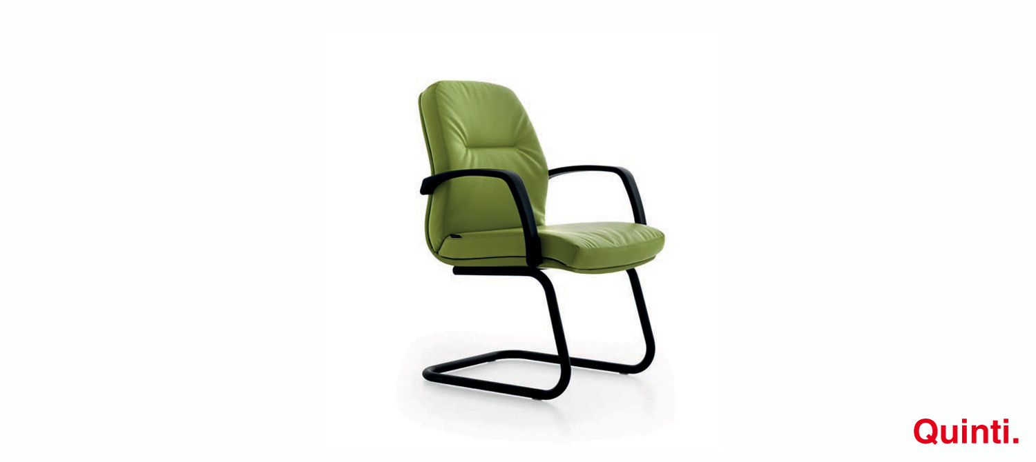 Quinti Roma Low back Visitors chair with Armrests & Cantilever base Slider
