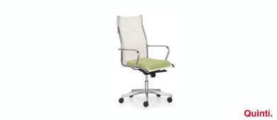 Quinti Season Mix High back with Elle armrests & Arco base Slider