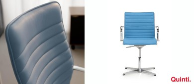Quinti Season Slim Visitors chair with Armrests & Star base Slider