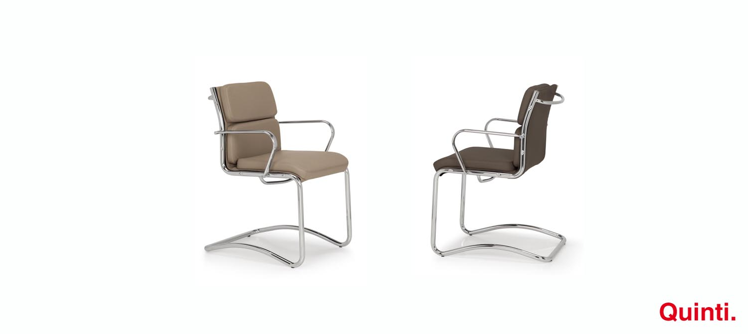Quinti Seasons Comfort Visitors chair with Armrests & Cantilever Slider