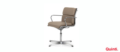 Quinti Seasons Comfort Visitors chair with Armrests & Star base Slider