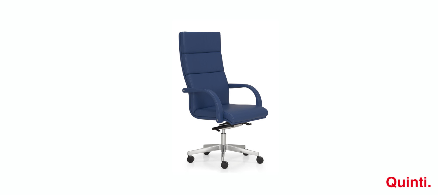 Quinti Senator High back with Armrests & Loop base Slider