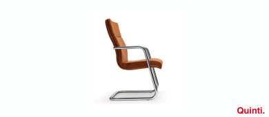 Quinti Senator Visitors chair with Armrests & Cantilever base Slider