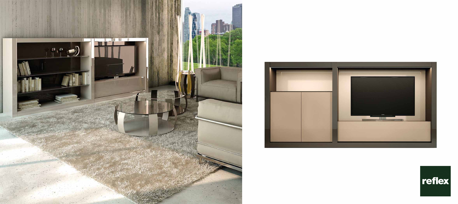 Reflex Avantgarde Luce Collection 3 TV Unit Slider