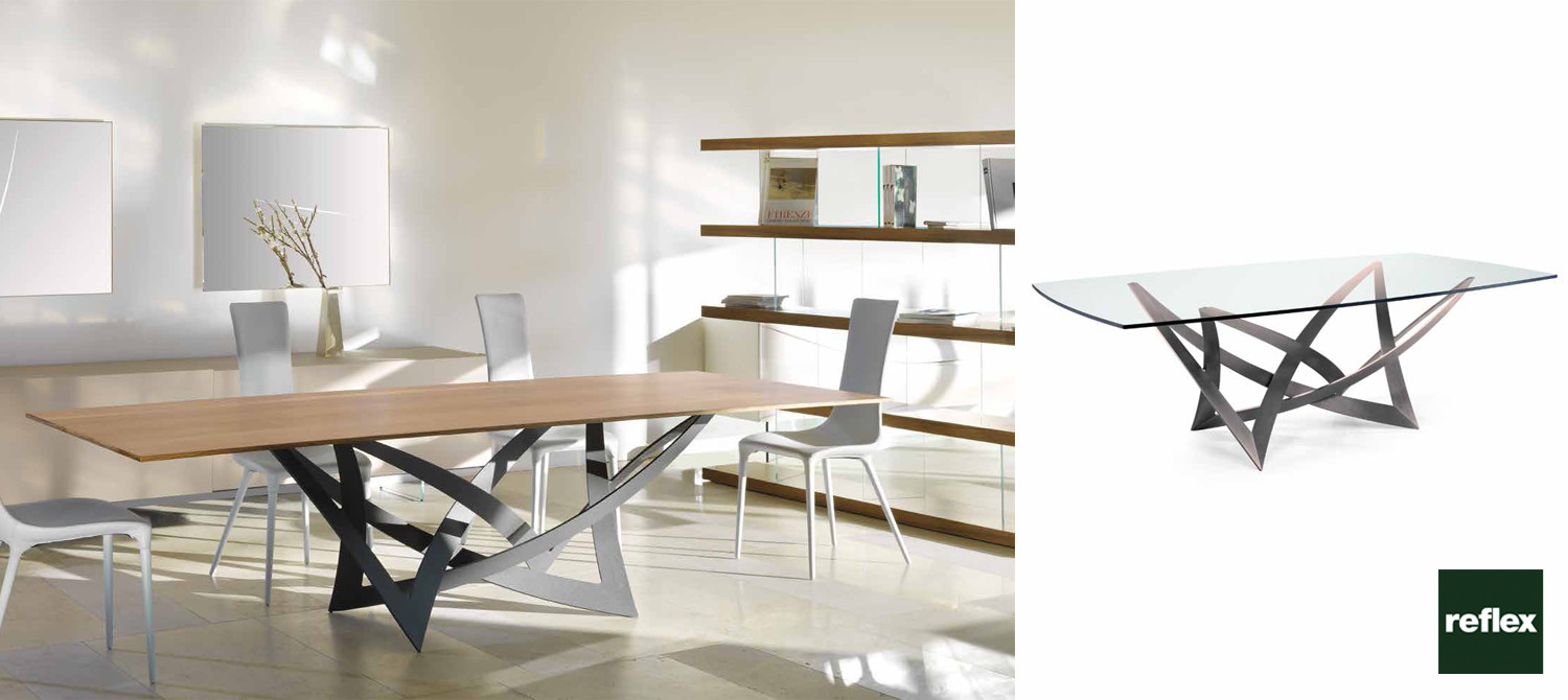 Italian dining tables for Reflex tavoli