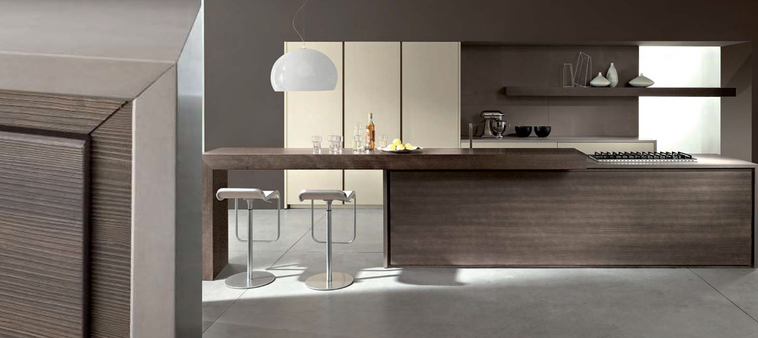 Ikon stylish kitchen design modern with breakfast bar